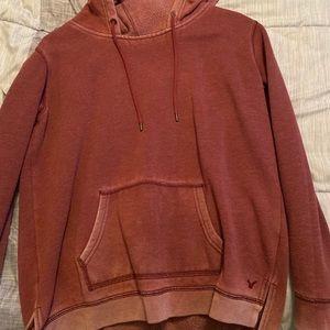 Maroon American eagle hoodie